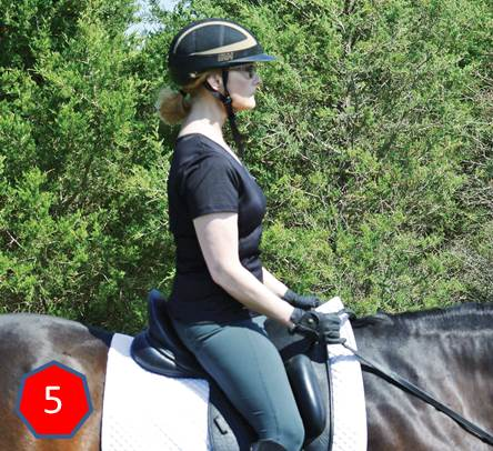 DRAMATIC DIFFERENCE: Stabilizing the shoulder blades transforms the rider's posture